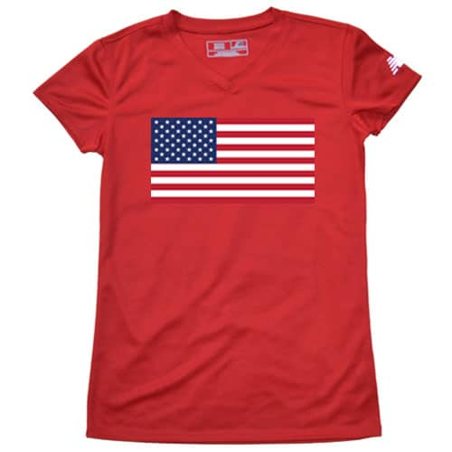 Blue American Flag Running Shirt